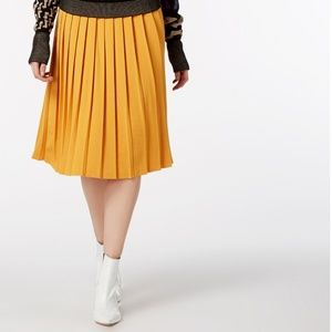Vivienne Westwood Yellow Pleated Midi Skirt